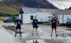 Alastair Mather, John Pope and Tom Mottershead on the Coast to Coast run for charity.