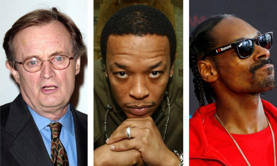 David McCallum, Dr Dre and Snoop Dogg.