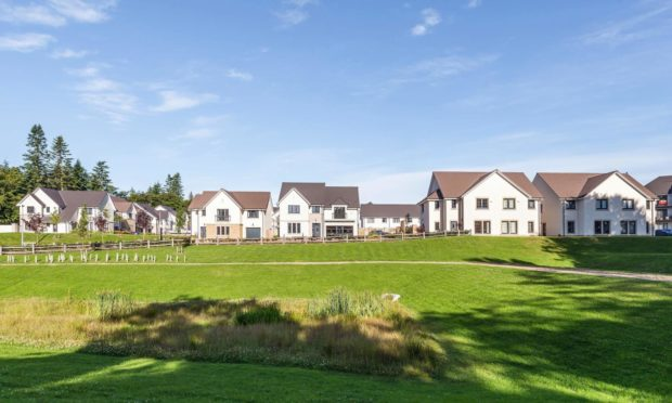 New planning application submitted for extension of Craibstone Estate development Picture shows; Craibstone Estate development. Aberdeen city. Supplied by Cala Homes North.