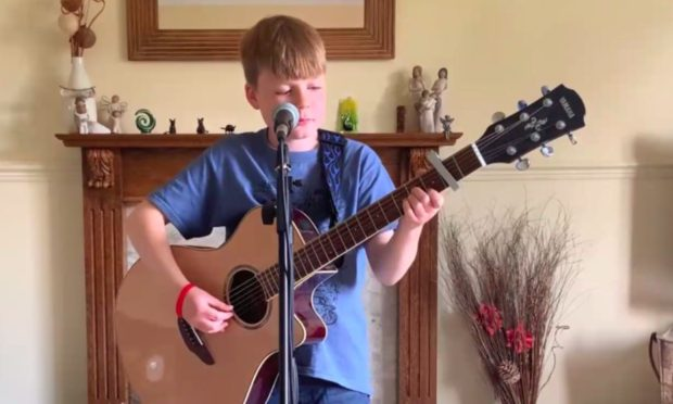 Young singer Stuart Veitch took part in an online talent show earlier this year.