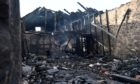 The building was badly damaged in the blaze