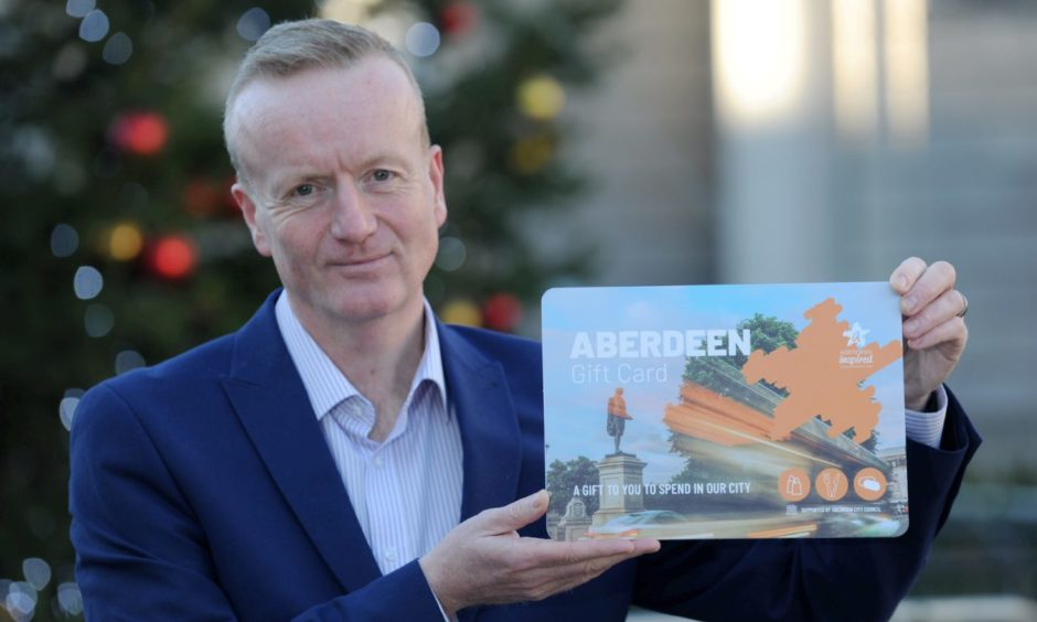 Aberdeen Inspired chief executive Adrian Watson at the launch of the Aberdeen Gift Card.