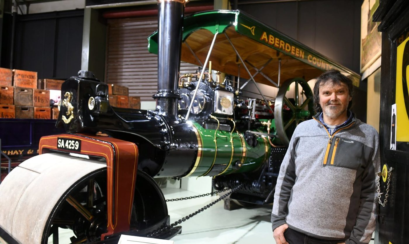 Grampian Transport Museum custodian Mike Ward, who has spoken of the importance of tourist reviews