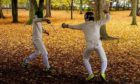 Fencers Callum Sutherland and Robin Paterson in Elgin's Cooper Park.