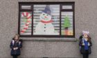 Bailey and Chelsea Forbes created this window display in Macduff for Connect at Christmas