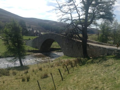 Gairnshiel Bridge in Aberdeenshire is to close for roadworks. picture submitted by council, 16/04/2018