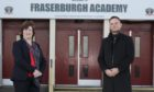 Irene Sharp, rector of Fraserburgh Academy, and Gareth Innes, chief engineering and commercial officer of TWMA.