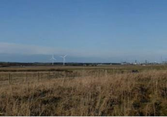 Artist impression of how the turbines near St Fergus would look.