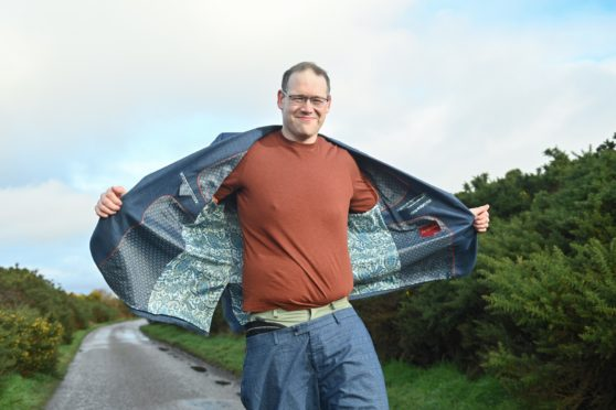 Councillor Andrew Jarvie pictured at Charlie Point, Inverness after his amazing weight loss. Pictures by Jason Hedges
