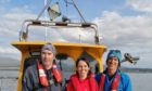 The team at Kelp Crofting - from left Martin Welch, Dr Kyle Orr and Alex Glasgow.