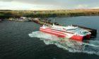 The MV Alfred in Gills Bay.