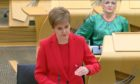 To go with story by Craig Munro. Nicola Sturgeon giving her levels update to the Scottish Parliament Picture shows; Nicola Sturgeon. Scottish Parliament. Supplied by Scottish Parliament Date; 22/12/2020; 7a1a8a57-7753-4d15-84b4-ee64bb05fb07