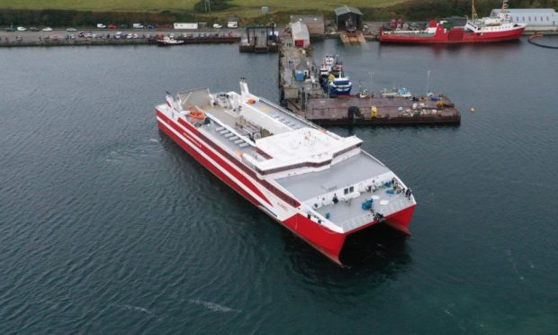 Mull residents want CMAL to buy them a catamaran similar to those used by Pentland Ferries.