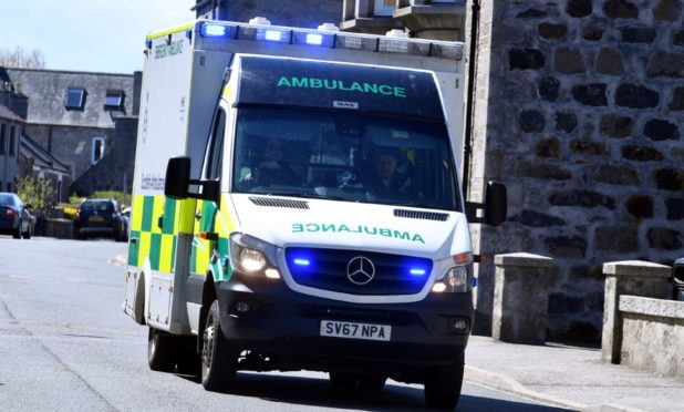 Ambulances have been forced to wait outside Aberdeen Royal Infirmary for several hours.