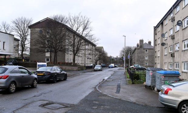 Marquis Road, Aberdeen, where two cars were set on fire.