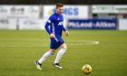 Fraser Fyvie in action for Cove Rangers against Clyde.