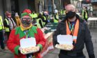Street Friends Helping the Homeless served food on Christmas day.