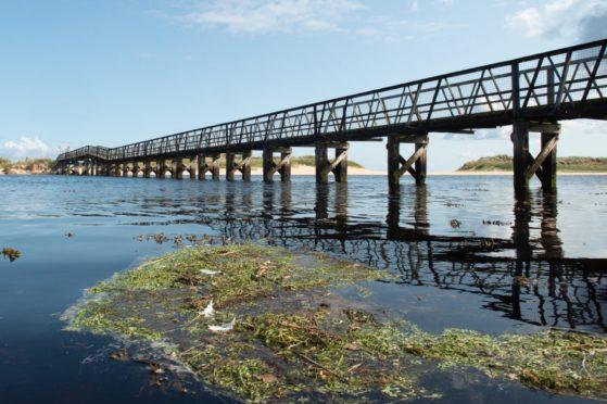 Lossiemouth's East Beach bridge.