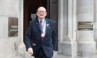 Alan Donnelly leaving Aberdeen Sheriff Court