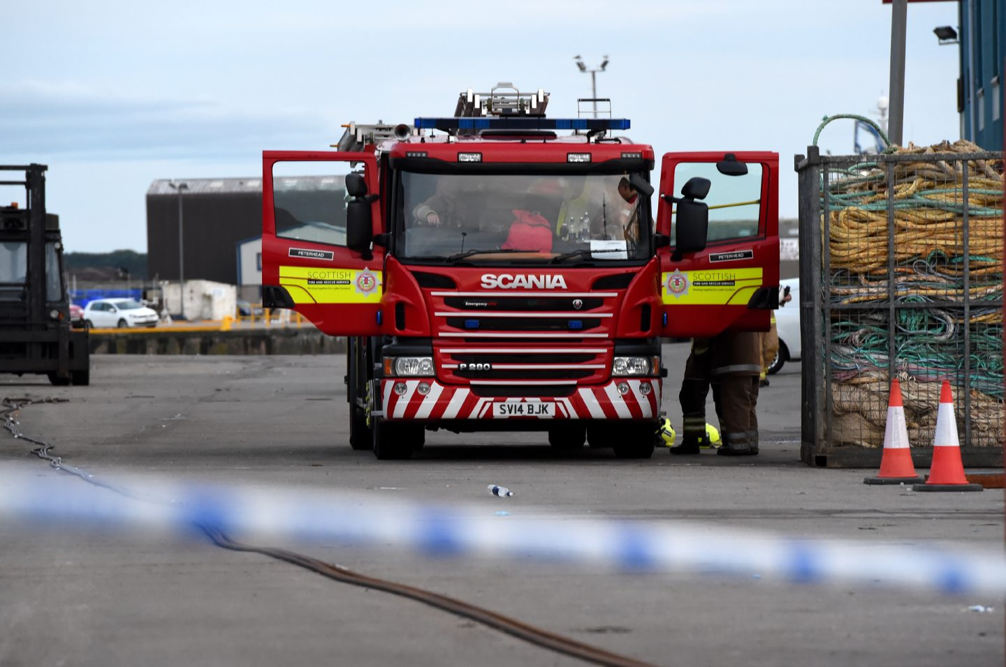 Fire crews monitored the oxygen levels on the Sunbeam in Fraserburgh following William Ironside's death