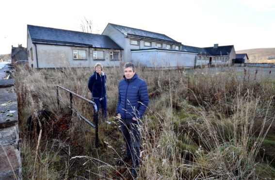 Tomintoul and Glenlivet Development Trust members Oliver Giles and Jenny Herschell.
