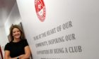 Aberdeen FC Community Trust chief executive Liz Bowie pictured at Pittodrie Stadium, Aberdeen.       Picture by Kami Thomson