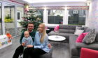 Mark and Ria Petrie with their son Cooper at their home in Echt