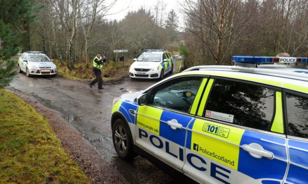 police at Culnakirk near Drumnadrochit