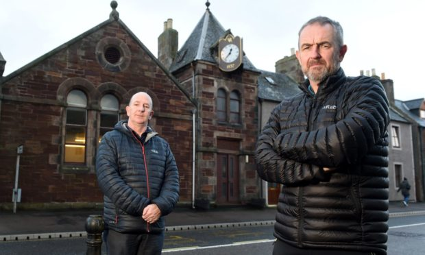 Peter Allan (left) and Ian Sutherland of Go Golspie.