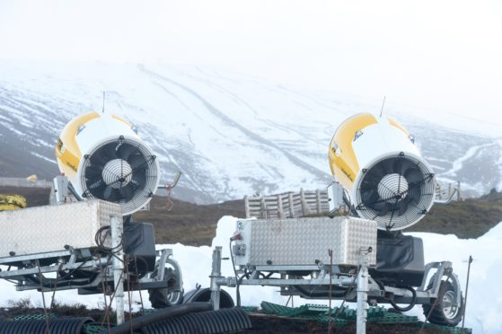 Cairngorm Mountain to close just days after reopening, with snow machines providing extra cover on the slopes