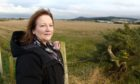 Sonya Warren, chairwoman of Moray Council's children and young people's committee, at the site of the proposed development.