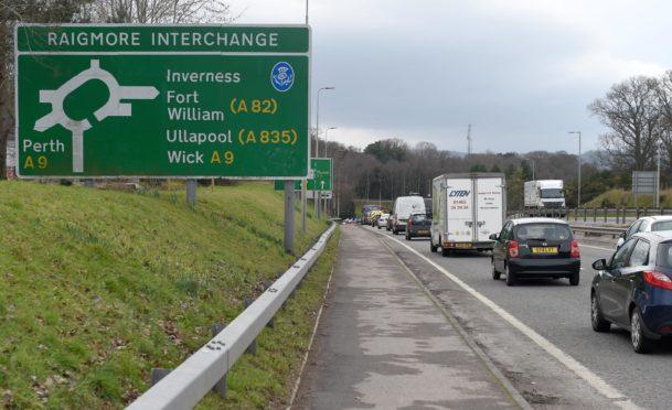 New speed limit at Raigmore Interchange