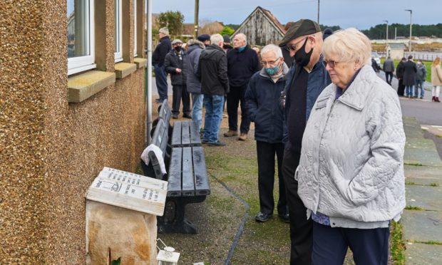 About 100 people attended the service to mark the 50th anniversary of the loss of the Rosebud II, which included the unveiling of a dedicated memorial.