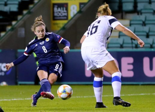 Kim Little. left, has represented Scotland 139 times and played at the 2019 Women's World Cup