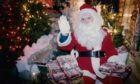 Santa Claus at the Findlay Clark Garden Centre in Aberdeen in 1992.