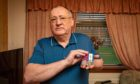 Mr Haffey with his medals following his Piper Alpha heroics.