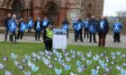 Standing up to Rape: Sexual assault campaigners protest in Kirkwall, Orkney.