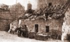 """The damage to a house on Stonehaven's Shorehead caused by the mine is shown in this picture from the P&J's account of the """"night of terror""""."""