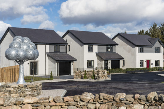 Thursday 14th March 2019, Aberdeen,  Bancon Homes Kinion Place development   (Photo: Ross Johnston/Newsline Media)