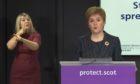 First Minister Nicola Sturgeon at the daily coronavirus briefing