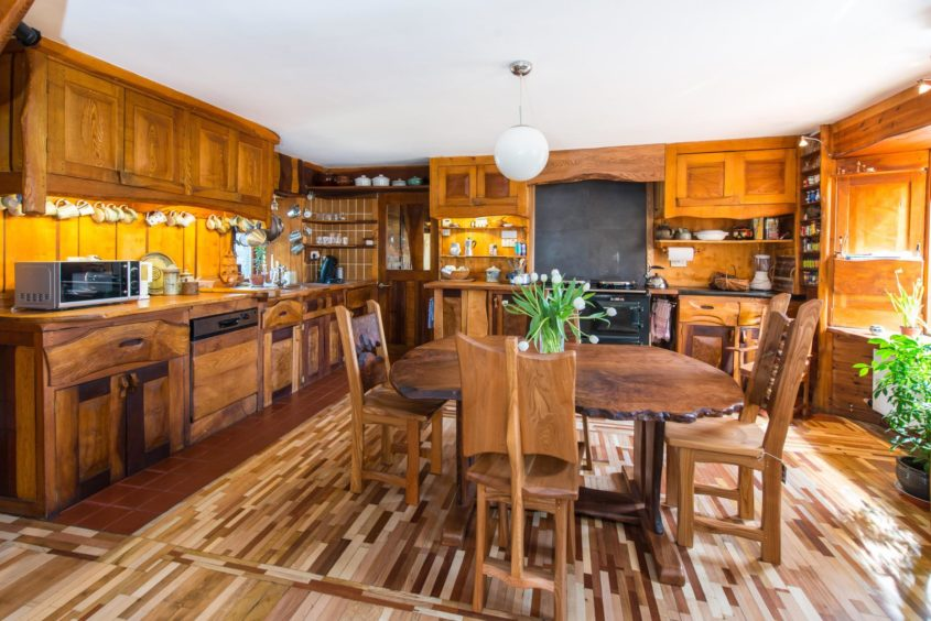 The Tim Stead Trust wishes to purchase the artist's home in the Borders, called The Steading, for the benefit of the nation. The home's kitchen features a number of examples of Mr Stead's work.