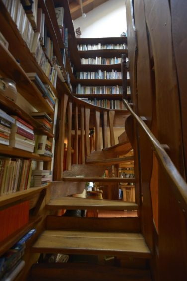 The Tim Stead Trust wishes to purchase the artist's home in the Borders, called The Steading, for the benefit of the nation. Even the stairway was made by Mr Stead.