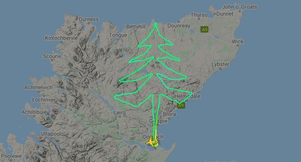 The flight path, as soon on website Flightradar24.