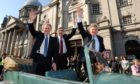 George Donald, Buff Hardie and Steven Robertson were given the freedom of Aberdeen.