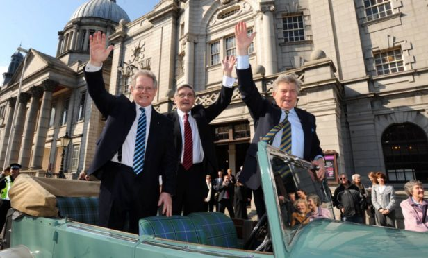 George Donald, Buff Hardie and Steven Robertson were given the freedom of Aberdeen in 2008.