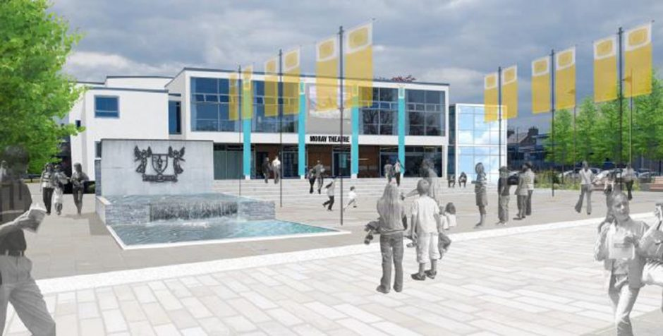 Artist impressions of the proposed cultural quarter in Elgin.
