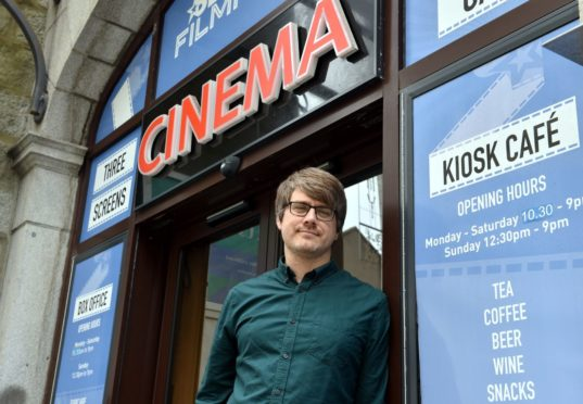 Colin Farquhar, head of cinema operations at the Belmont Filmhouse. Picture by Darrell Benns