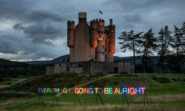 Everything Is Going To Be Alright by Turner Prize winner Martin Creed.