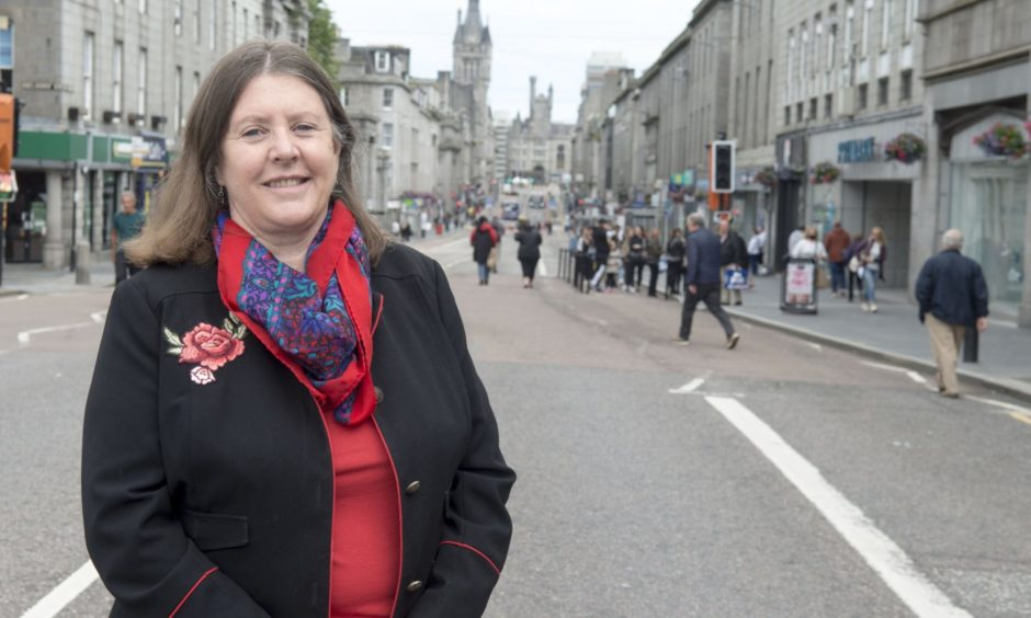 Nestrans chairwoman Sandra Macdonald has welcomed the rise in Aberdeen train passenger numbers.