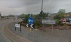 The incident happened at Shore Street roundabout in Inverness